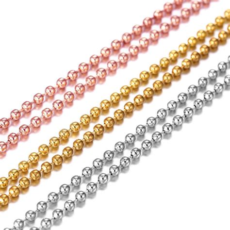 gold bead chain 1 pc wholesale silver gold gold bead chain for