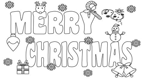 printable merry christmas coloring pages  kids adults  mom