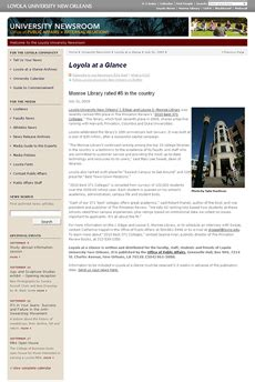 Loyola New Orleans Mba Ranking by Mathes Brierre News
