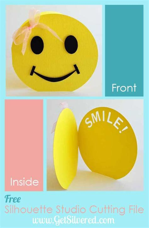 smile templates for cards put a smile on it card free file friday smiley