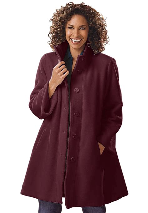 Plus Size Jacket In Swing Fleece Image Plus Size Style