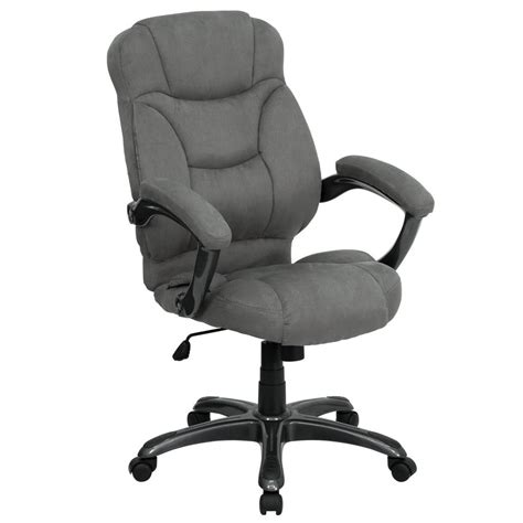 microfiber executive office chair flash furniture high back gray microfiber contemporary