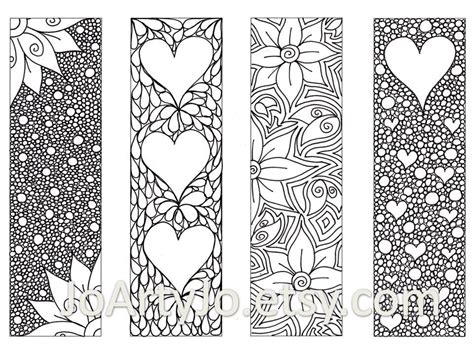 printable bookmarks coloring pages zendoodle printable bookmarks zentangle inspired by