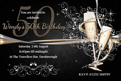 50th birthday card template 45 50th birthday invitation templates free sle
