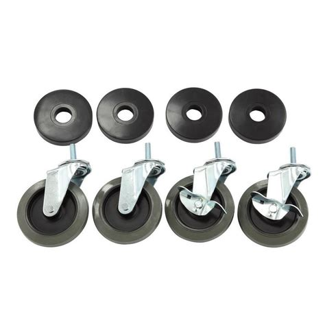 HDX 4 in. Industrial Casters with Bumper (4 Pack) 30260PS