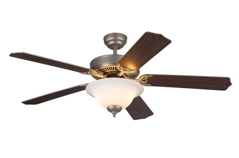 Monte Carlo 5hm52bpnd Brushed Pewter 5 Bladed 52 Quot Energy Energy Ceiling Fan With Light