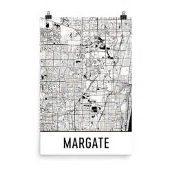 margate florida map margate florida map print poster wall from 29