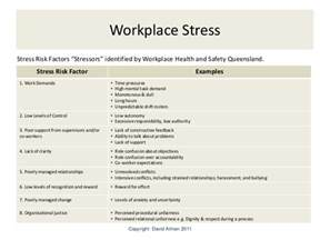 workplace stress risk management