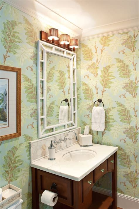 wallpapered bathrooms ideas green tea 4 u