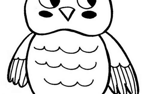 baby owls coloring cut coloring pages