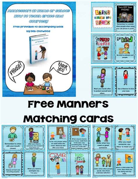 printable montessori cards montessori monday free grace and courtesy printable