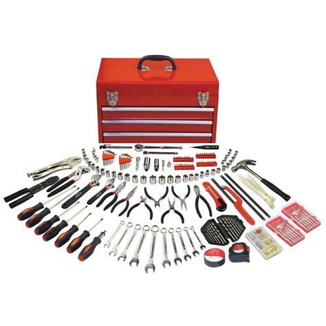 Tool Box Set 12 In 1 Hardware Alat Pertukangan Multifunction apollo 297 all purpose mechanics tool kit in 3 drawer steel tool box dt6803 the home depot