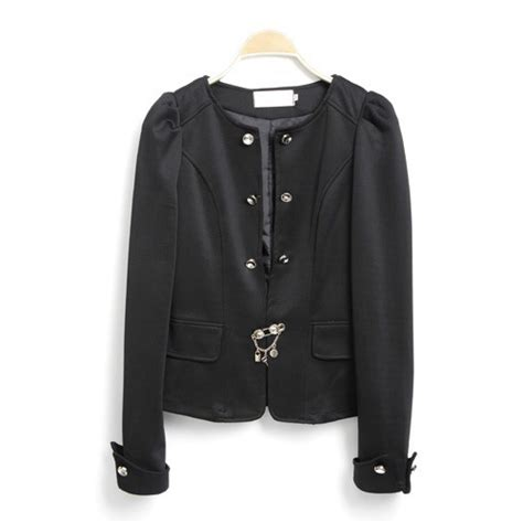 Outerwear Blazer Bow Back Blazer Wanita fashion back bow tie sleeves black suit