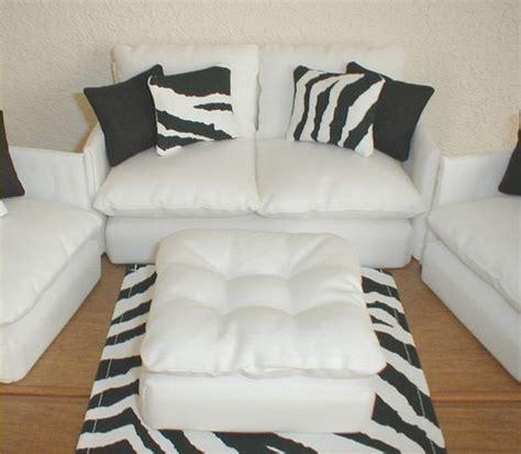 zebra living room set barbie furniture living room set white with zebra black
