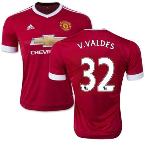 Adidas Valdes s 32 victor valdes manchester united fc jersey 15 16