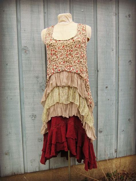 lg romantic shabby chic dress lace and ruffles