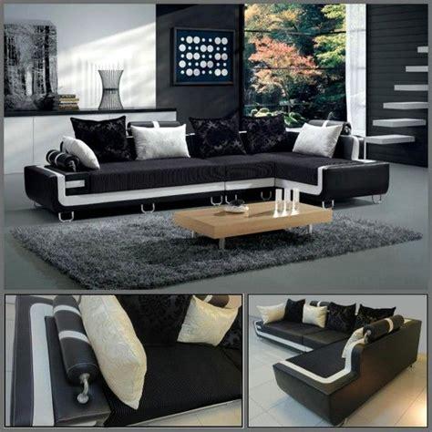 divano soggiorno divano soggiorno dafne 350cm angolare bianco e nero