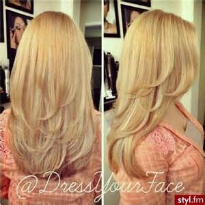 hair with layers on crown long layers blonde hair
