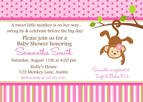 free monkey baby shower invitation templates monkey baby shower invitation ideas free printable baby