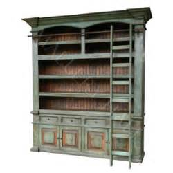 Bookcase Drawer Old Solid Wood Distressed Turquoise Ladder Bookcase Ebay