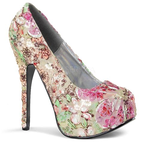 imagenes de zapatillas con flores plateau pumps im blumen design highheels boutique