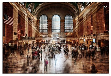 bathrooms in grand central station vandue tempered glass wall art 3d grand central station