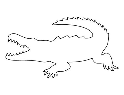 alligator template crocodile pattern use the printable outline for crafts