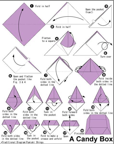 printable origami instructions box candy box tutorial instrucciones para realizar una