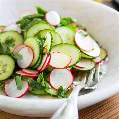 cucumber radish salad all around the kitchen with laurie