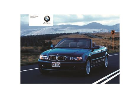 old car owners manuals 2005 bmw 3 series transmission control 2005 bmw 3 series 325ci 330ci e46 owners manual