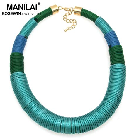 Handmade Chokers - manilai new design fashion handmade yarn simple chunky