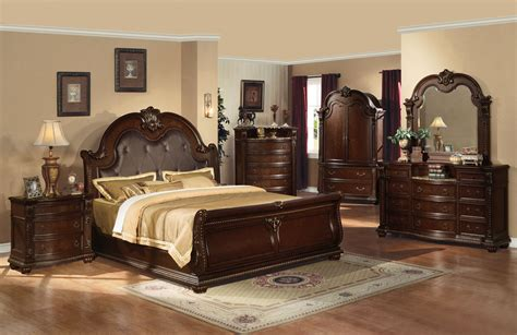 Anondale 5 Pc Bedroom Set In Cherry Acme Furniture Bedroom Furniture Set