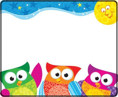 owl stars name tags | t 68117