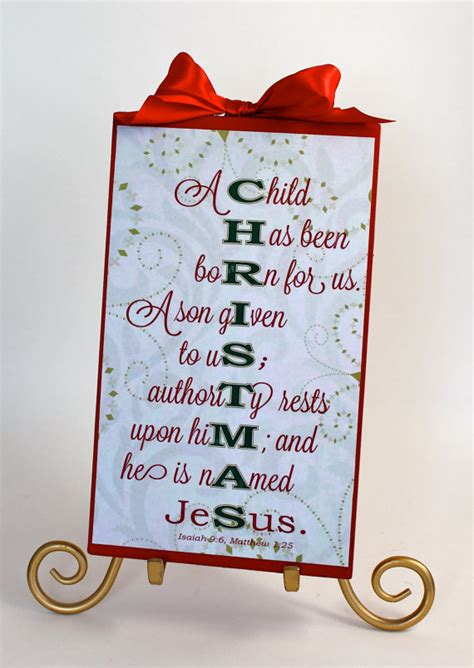 items similar to christmas sign decoration bible verse