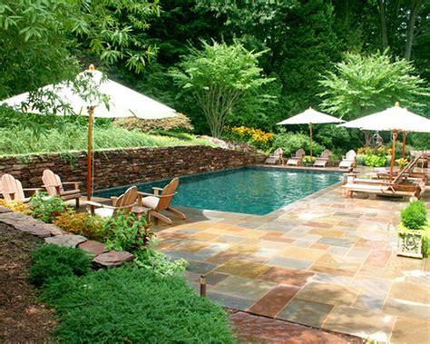 Stunning Backyard Swimming Pools With Nice 4 Umbrella And All Backyard