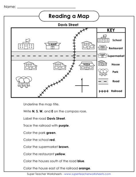 OUR ENGLISH CLASS: Reading a map worksheets | We love