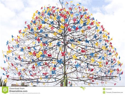How Many Pieces Of Paper Can A Tree Make - paper windmill tree royalty free stock photography image