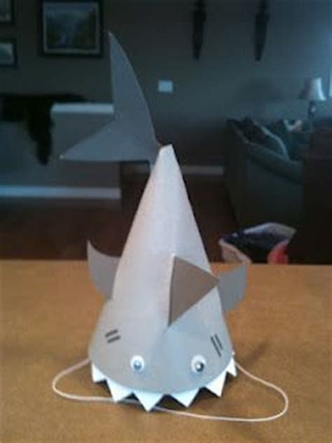 How To Make A Paper Shark Hat - 25 best ideas about shark hat on shark