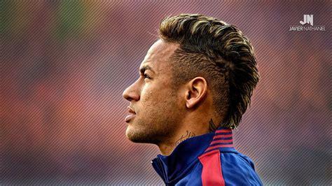 neymar blonde hair psg   undercut ponytail
