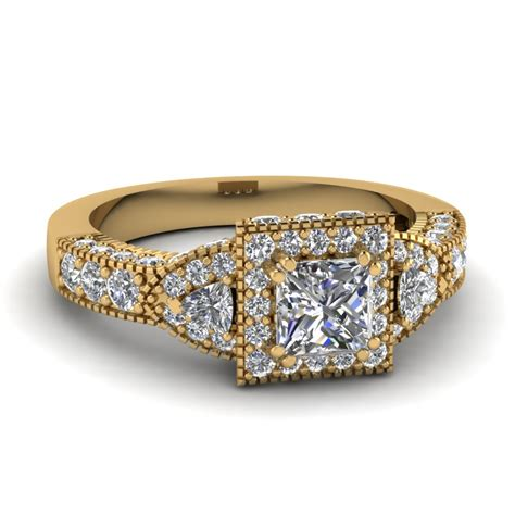 Gold Square Engagement Rings by Alluring Vintage Antique Engagement Rings Fascinating