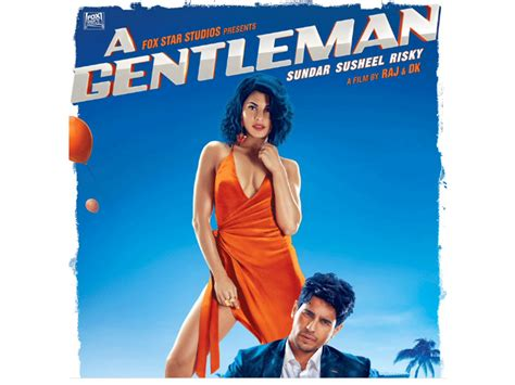 film india gentleman a gentleman poster sidharth malhotra and jacqueline