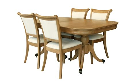 lace extending dining table 4 upholstered chairs