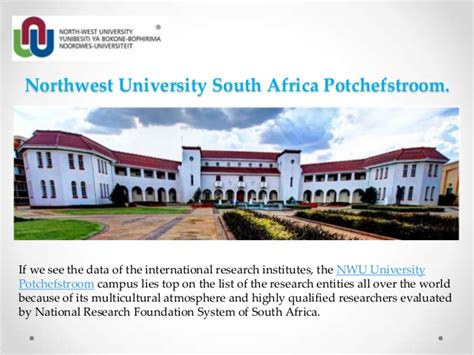 Mba Nwu Potchefstroom Requirements by Northwest South Africa Potchefstroom