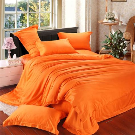 orange comforter queen orange solid luxury comforter bedding set king size queen
