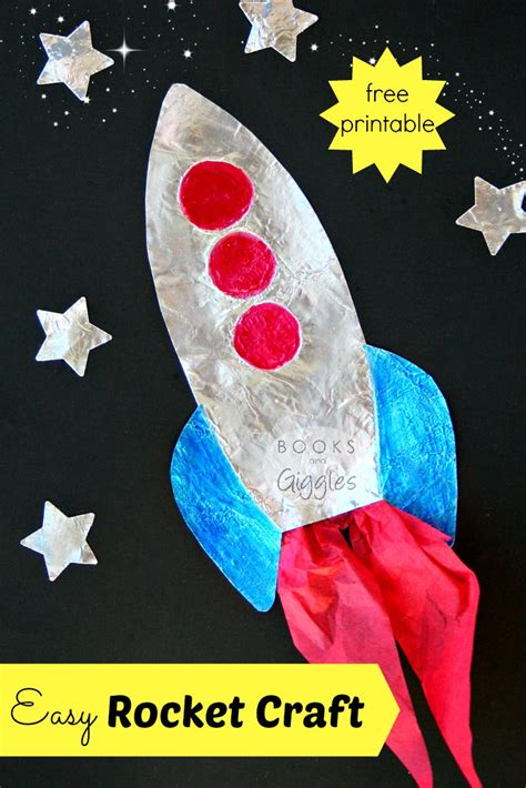 rocket craft for how to make an easy rocket craft that shines