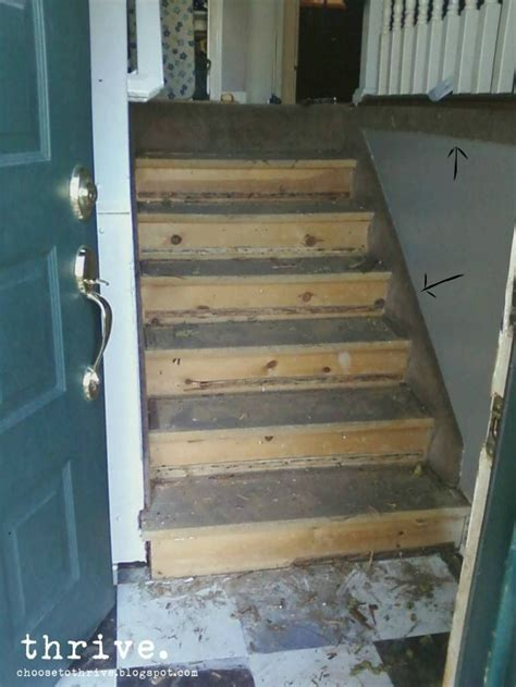 Thrive: How To Paint Your nasty particle board Stairs