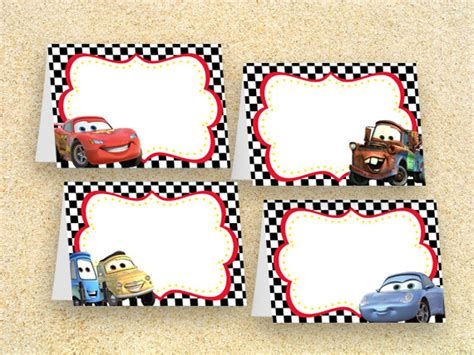 printable race car name tags cars party food labels instant downloadcars birthday cars