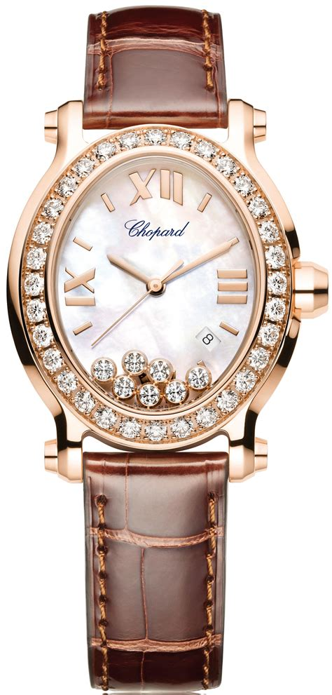 Chopard Ch7020 Oval Leather chopard happy sport oval 11 595 yellow gold with leather bracelet and quartz movement