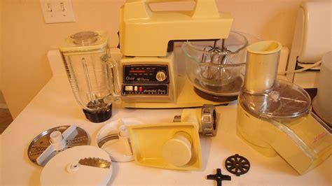 Yellow Kitchen Aid Mixer - 1970s vintage oster regency kitchen center mixer grinder