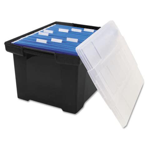 plastic file box plastic file tote storage box by storex stx61528u01c